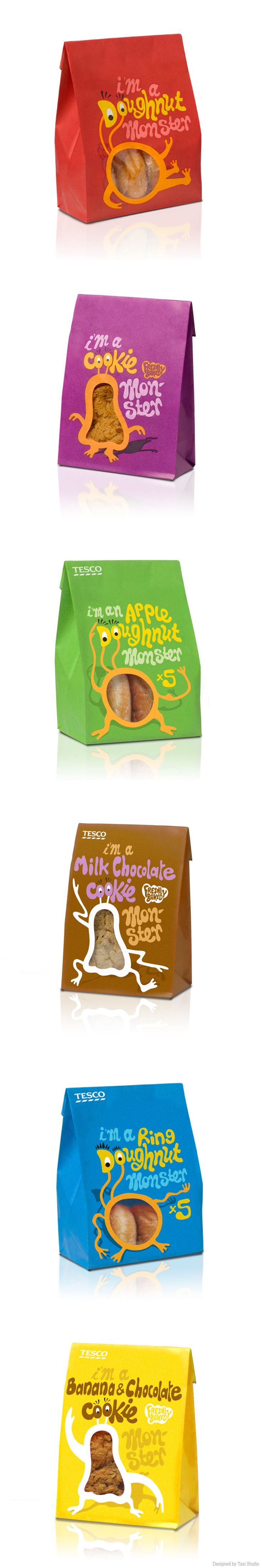 Tesco own brand packaging. Designed by Taxi Studio