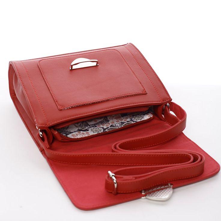 Dámská trendy kabelka přes rameno Nyla, červená