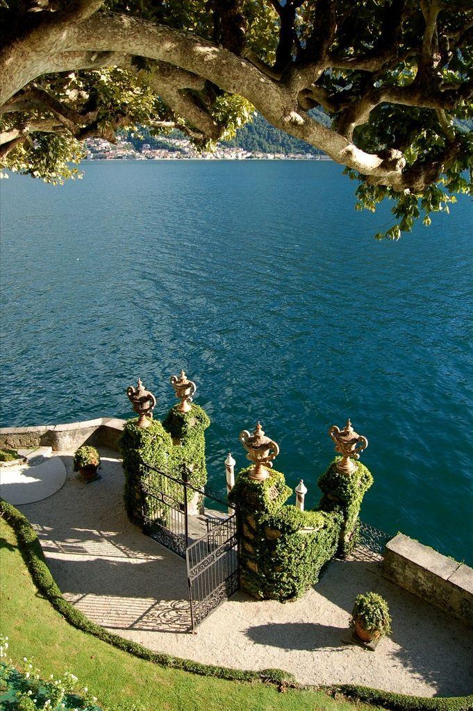 La Villa del Balbianello, Lenno, Lake Como, Italy - Damian's castle should definitely have one of these leading down to the ocean through the gardens