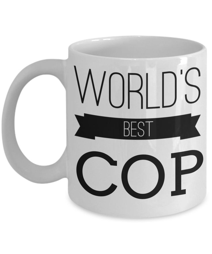 Funny Police Officer Gifts - Police Academy Graduation Gifts - Retired Police Officer Gifts - Police Mug - Worlds Best Cop White Mug