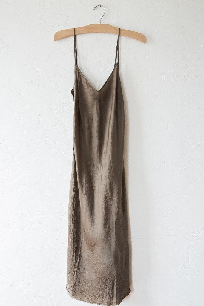 organic bias cut bronze long slip – Lost & Found