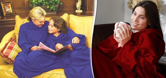 LiveDeal | ΠΡΟΣΦΟΡΕΣ αθήνα | Deal - 8,90€ από 16€ για μία Πρακτική Φλις Κουβέρτα Snuggie με μανίκια, one size, σε τέσσερα μοναδικά χρώματα, κατάλληλη για παιδιά και ενήλικες, για να ζεσταίνεστε τις κρύες νύχτες του χειμώνα και ΔΩΡΟ ένα booklight φωτάκι για να διαβάζετε άνετα το βιβλίο σας, με παραλαβή από το κατάστημα Magichole.com.gr στο Παγκράτι ή με αποστολή σε όλη την Ελλάδα!