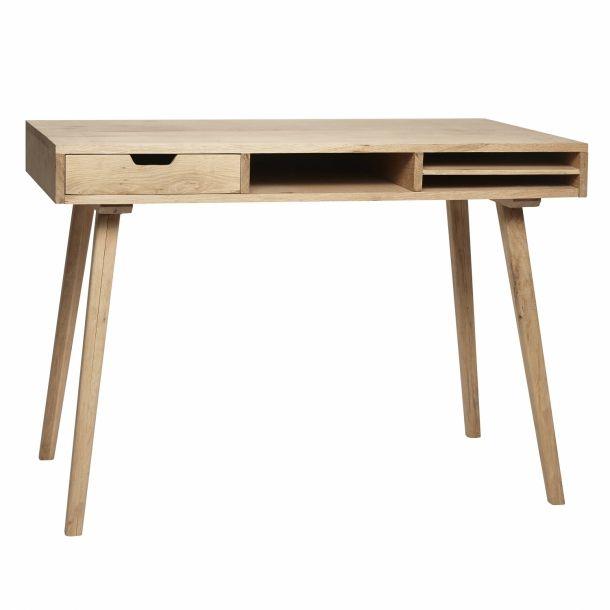 Hübsch Skrivebord m/rum (Egetræ)