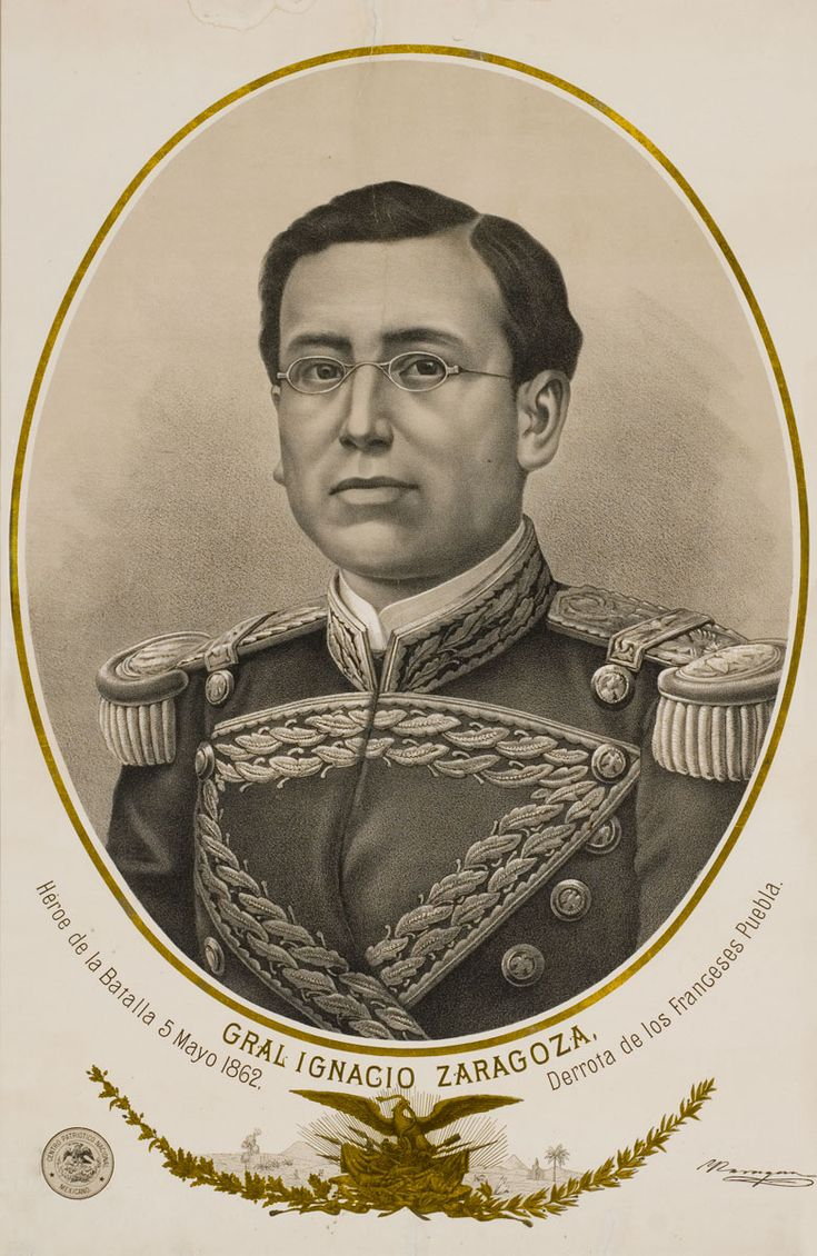 Ignacio Zaragoza - Mexican Army general who commanded the 4500-strong Mexican Army that defeated the 6500-strong invading French Army at the Battle of Puebla.