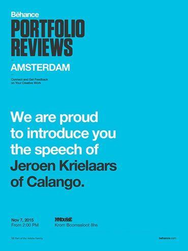 #CalangoStudio at #BehanceReviews in Amsterdam