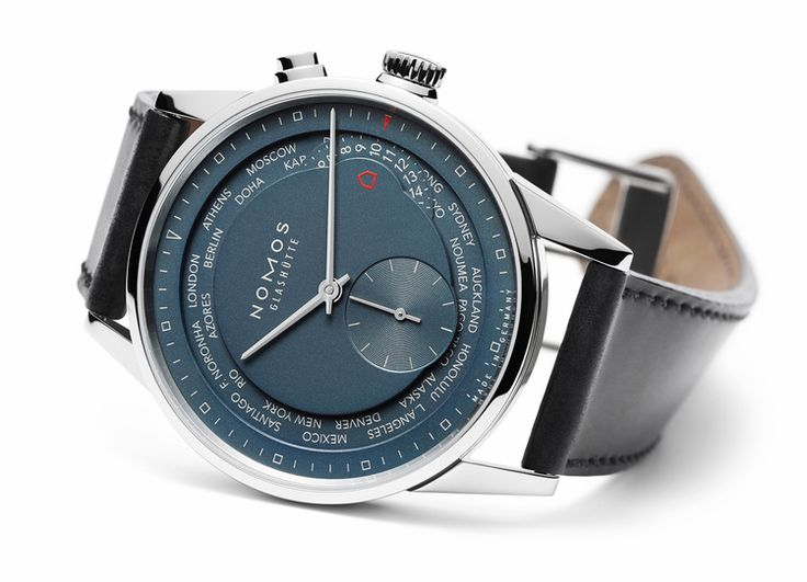 Introducing The NOMOS True Blue Zurich Weltzeit, A Favorite Receives A New Dial, And In-House Escapement — HODINKEE - Wristwatch News, Reviews, & Original Stories