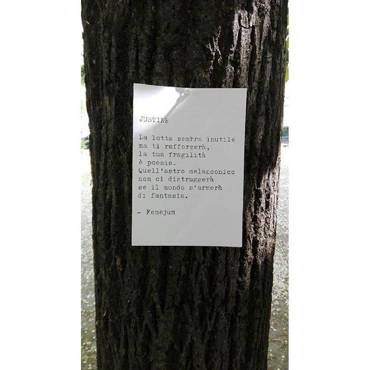 Fenejum, Justine - poesia di strada