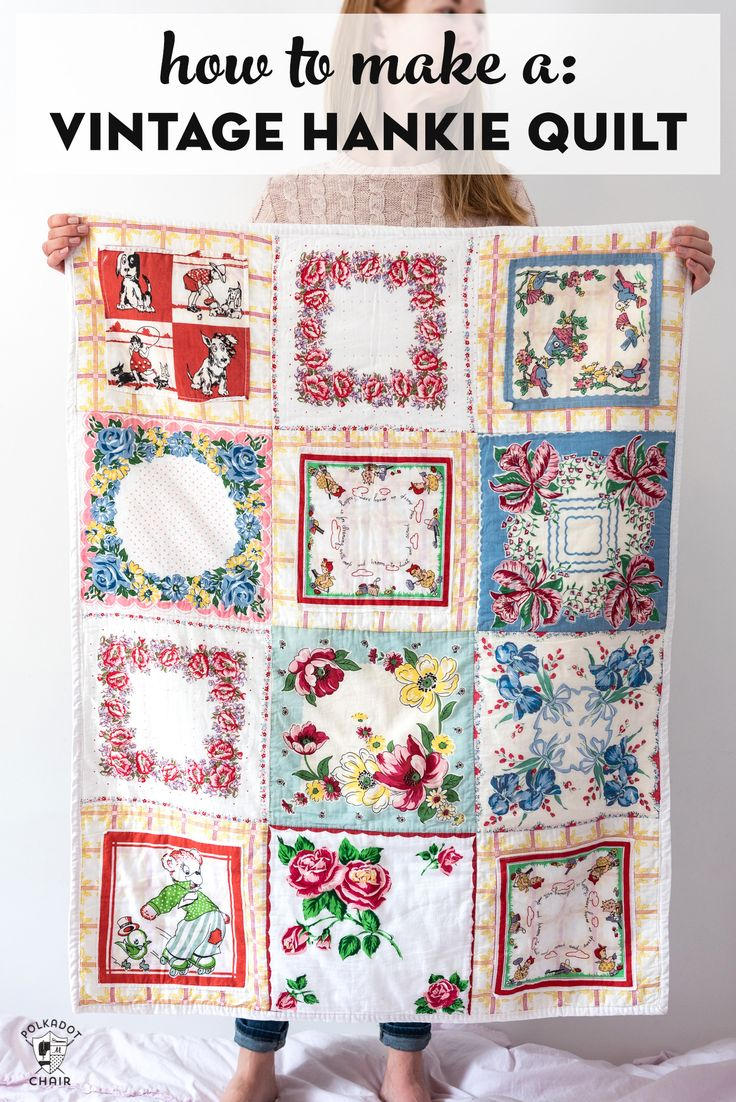 How to Make a Quilt from Vintage Hankies