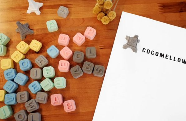With these alphabet diffusers, you can make your own sweet word or sentence. #candle #design #atelier #cocomellow