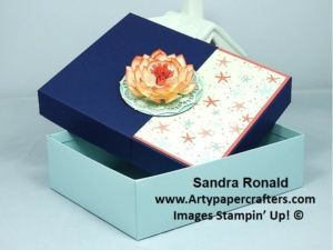 Reinforced Box for Sietie with beautiful WATERLILY - Stampin' Up!