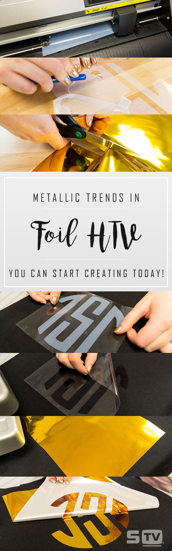 How to use foil and heat transfer vinyl to create trending looks for 2017.