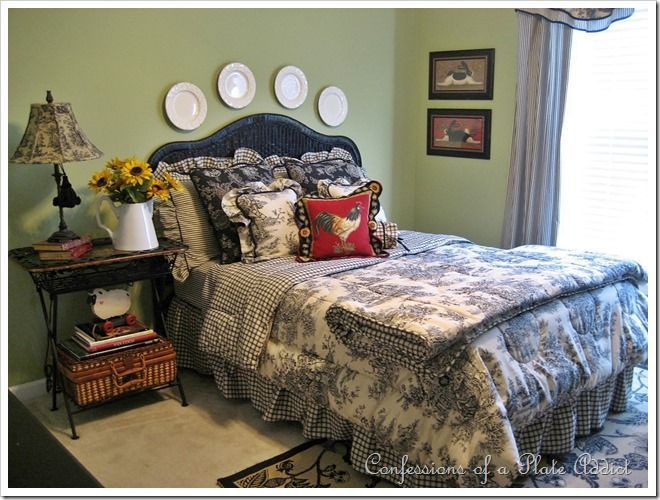 Bedroom Decorating Ideas Totally Toile: 17 Best Images About Primitive Bedrooms On Pinterest