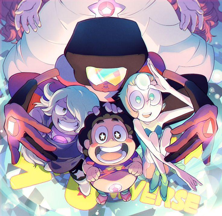 Steven Universe, Granate,  Amatista, Perla y Steven
