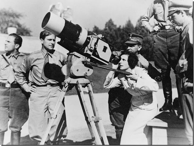 """Leni Riefenstahl was the first true female film director. The Economist wrote of her documentary film """"Triumph of the Will"""" as sealing """"her reputation as the greatest female filmmaker of the 20th century."""" However, her career post WWII was effectively destroyed because of her personal association with Hitler and her use by the Third Reich as a film maker."""