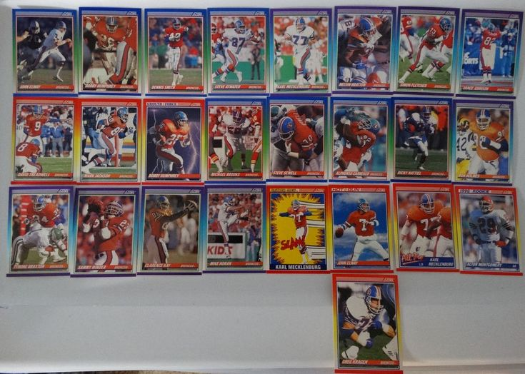1990 Score Denver Broncos Team Set of 25 Football Cards #DenverBroncos