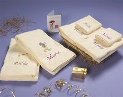 Personalised 6-Piece Towel Set - makes the perfect gift for a happy couple on their Wedding Day! WowWee.ie €100.00