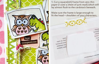 Step-by-step fun 'photo-booth' style stamping technique. Originally feat. on 'It's A Creative World'.