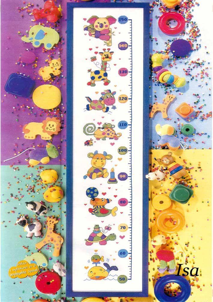 17 best images about punto croce metri crescita per for Farfalle a punto croce per bambini