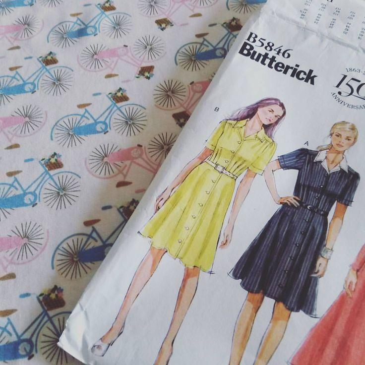 """26 likerklikk, 9 kommentarer – Jenny (@jenniferhbabey) på Instagram: """"Cant wait to find time to make this! #dressmaking #sewing #shirtdress #sewtogetherforsummer…"""""""