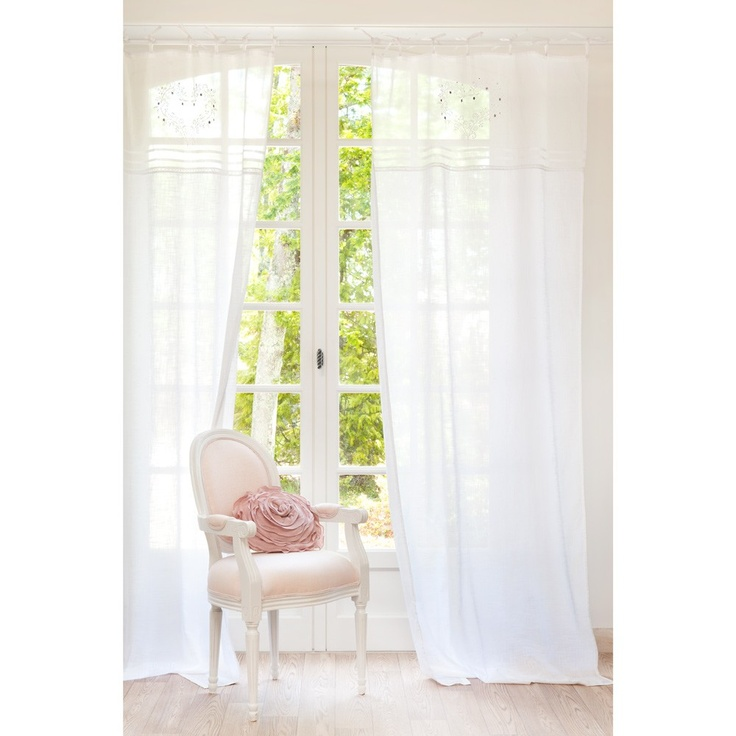 Eloise embroidered curtain  - Set of 2