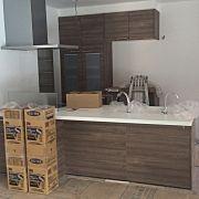 Kitchen,ウォルナット,注文住宅,自動水栓,対面式キッチン,リクシルDフロアに関連する他の写真