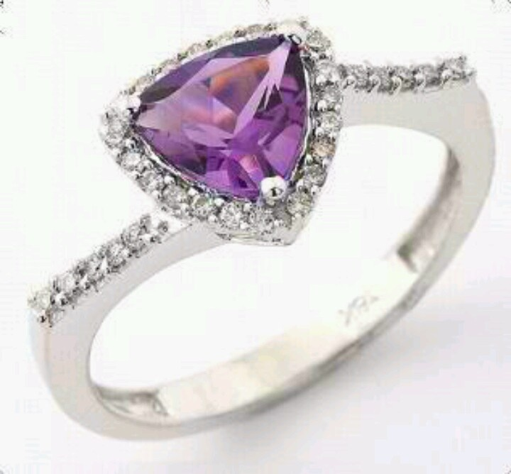 Gorgeous purple diamond ring.