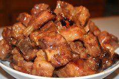 "CHINESE SWEET SOUR SPARERIBS TIME!--""Kaukau"" is a Hawaiian pidgin slang word meaning ""food"" or ""to eat."":"
