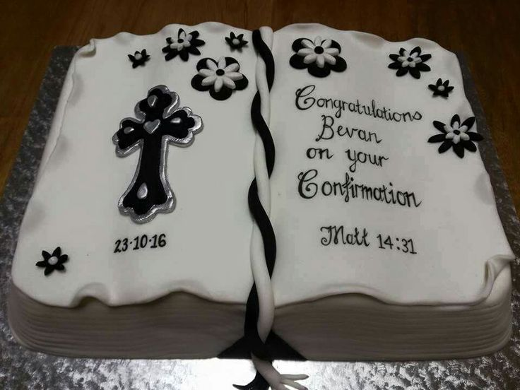 Confirmation cake - Bible