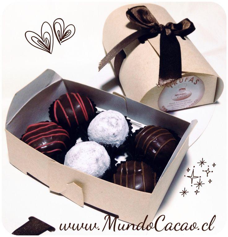 Caja de trufas para ella: Late Harvest, Chocolate de Leche y Avellanas.