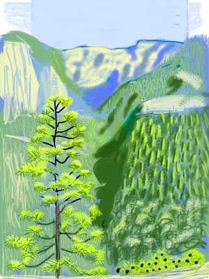 David Hockney's IPAD art