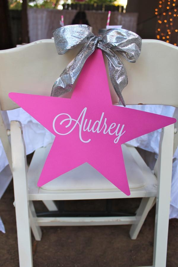 Under the Stars Birthday Party Make one for each guest.  Use silver or gold sharpies to write their names.