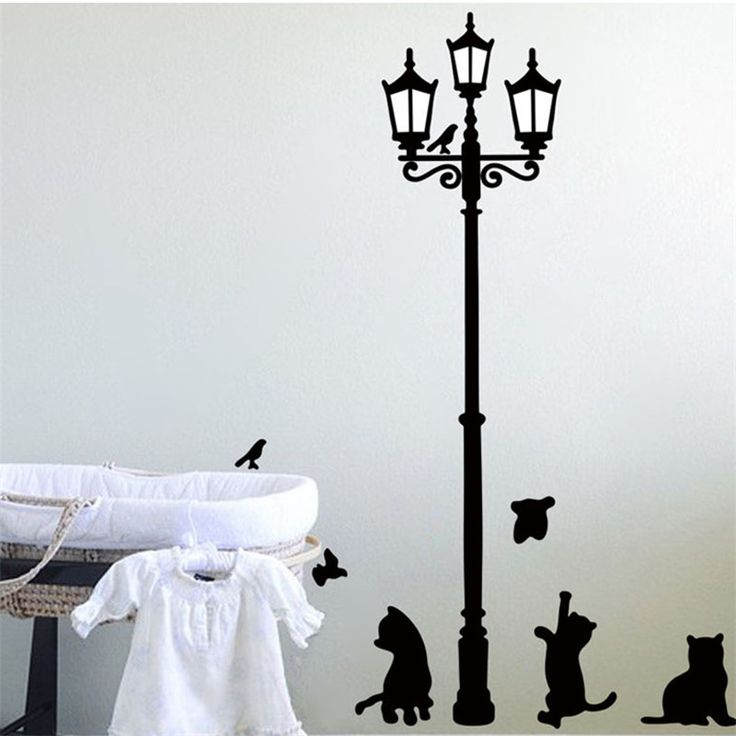 Cat Lamp Wall Sticker //Price: $8.79 & FREE Shipping //     #stickers