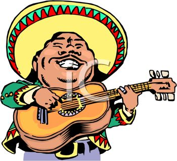 iCLIPART - A man in a sombrero
