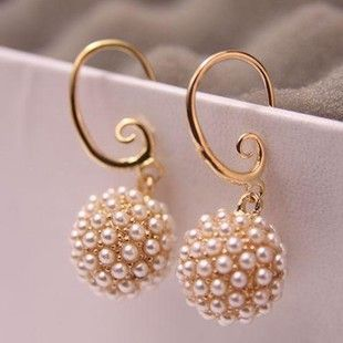 High quality pearls Flowers earrings jewelry Wholesale! AAA !Free Shipping! cRYSTAL sHOP $2.65