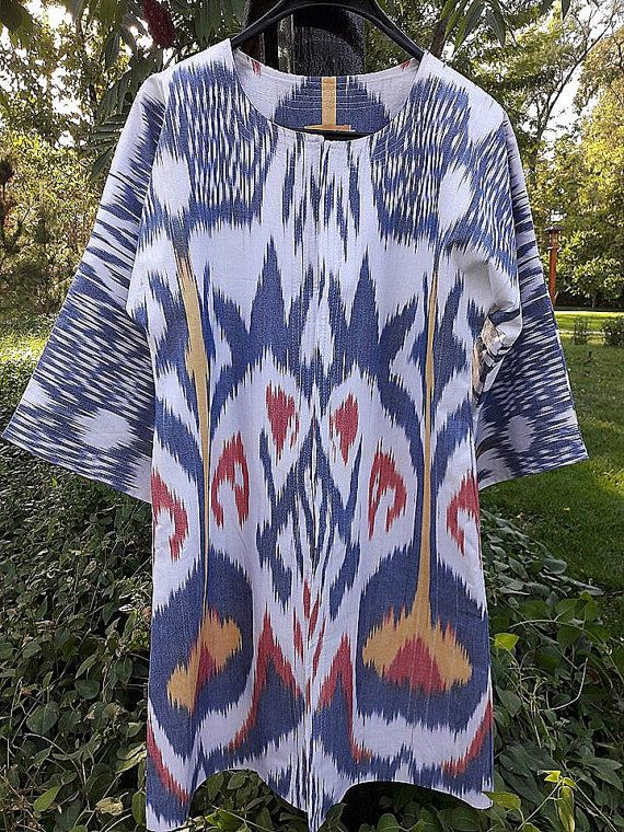 Handwoven Ikat Adras Silk  chapan from by SuzaniUzbekistan on Etsy