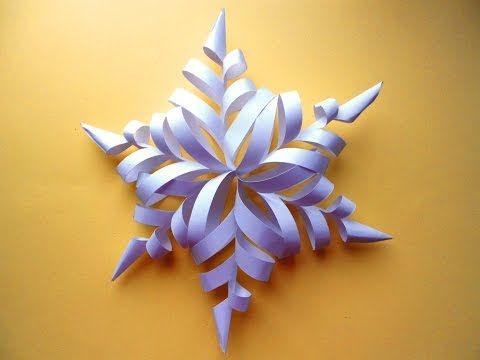 Как сделать ОБЪЕМНУЮ снежинку из бумаги своими руками(Новогодние снежинки) - YouTube