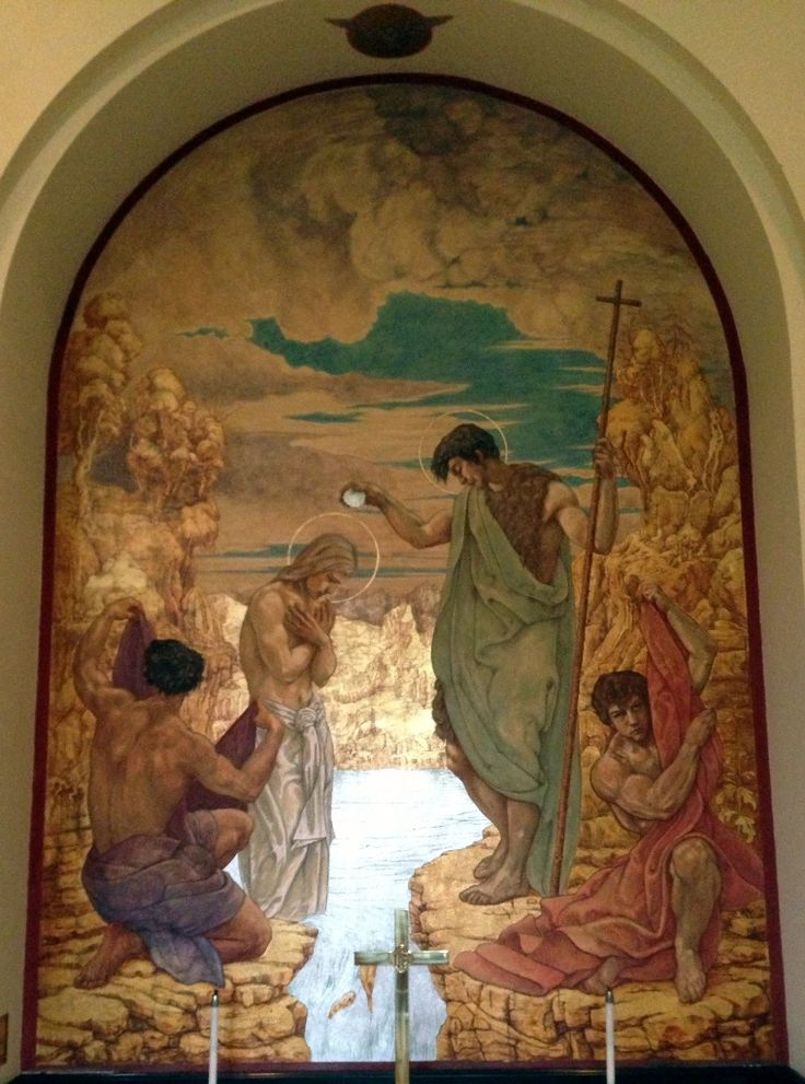 Baptism Of Jesus - Jan Henryk de Rosen (February 25, 1891 – August 22, 1982)