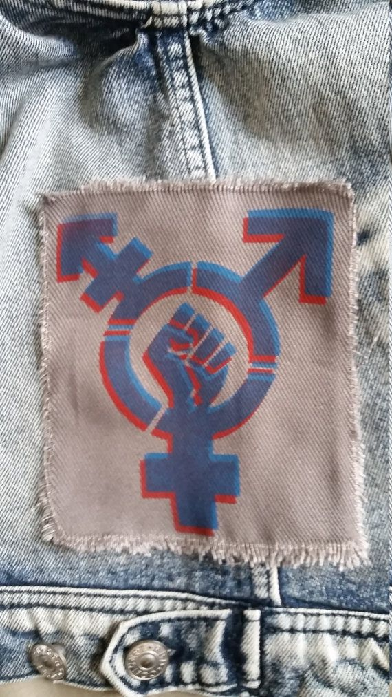 Transgender Trans pride patch Equal rights stencil spray paint by rainbowalternative | Etsy