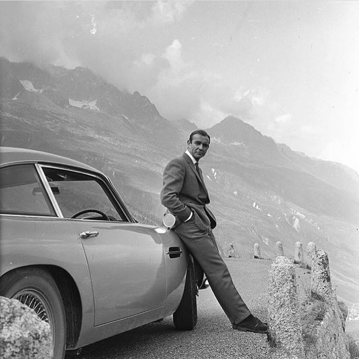 "• Classic gentleman. Sean Connery with your Aston Martin DB-5 ""007"" • www.carandvintage.com #CarVintage  #astonmartin #england #gentleman #007 #ferrari #mercedesbenz #lamborghini #bugatti #porsche #carporn #vintage #firstpost #first #elegance #lux #luxury #luxurycar #luxurylife #f4f #fashion #cars #londoncars #blacklist #newyork #autoporn #automotive #instacar #follow #cool"