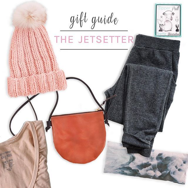 Got a jet setter on your list? Shop some of the best gifts for anyone with the travel bug this Christmas. This small cross body bag from @fitzydesign is perfect for on the go! @itsmaryyoung Logan sweats will make sure they're not only comfy, but look great no matter what their trip throws their way! Check out more of the #holidaygiftguides using the link in bio 👉🏼