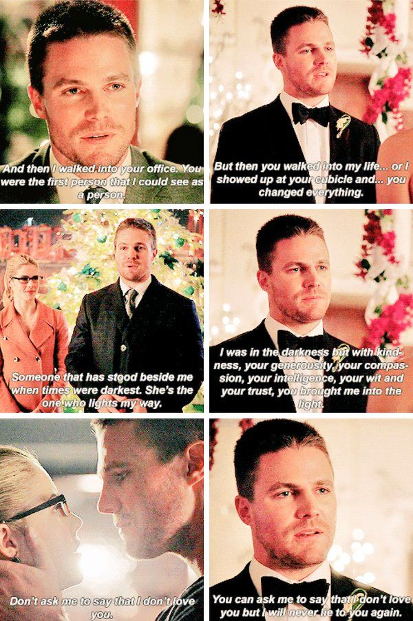 Olicity wedding vows parallel