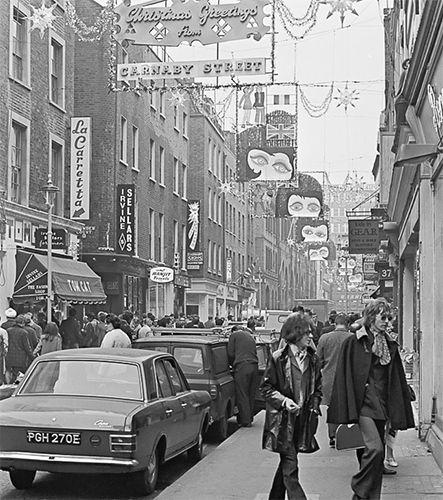 Christmas on 1960s Carnaby Street...