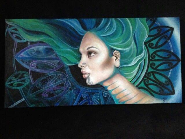 Lovely painting by Tyler-Jade Flay Whatarangi