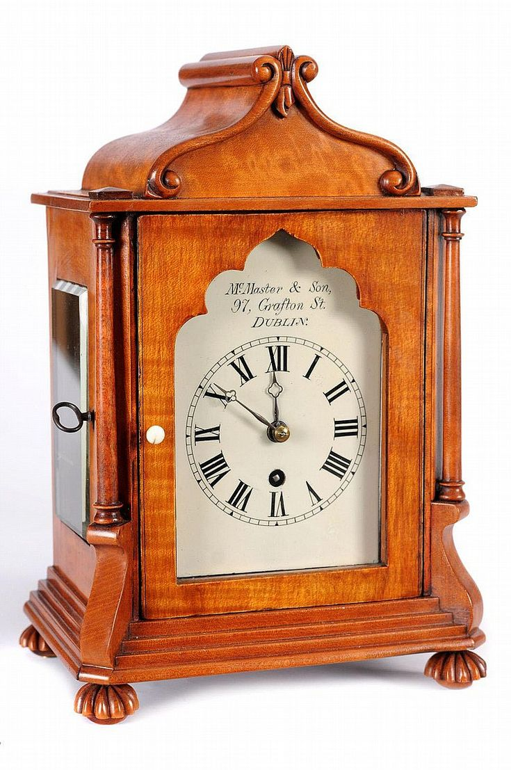 McMaster & Son, Dublin A satinwood mantel clock, - by Bearnes Hampton & Littlewood