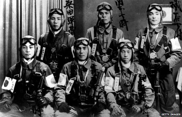A crew of Kamikaze pilots