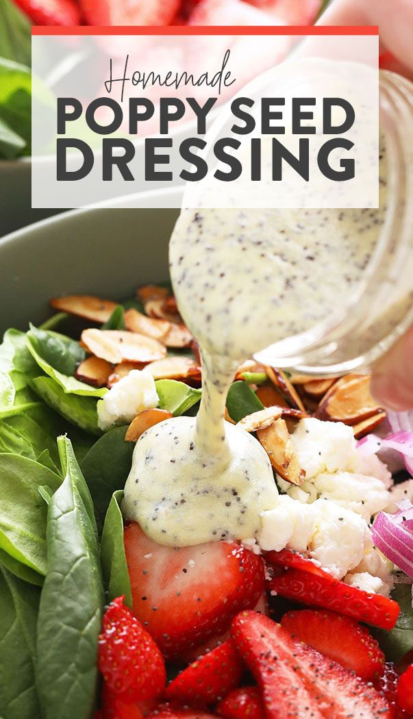 Hausgemachte Mohn Dressing | Passende Feinschmeckerfunde   – Homemade salad dressing healthy