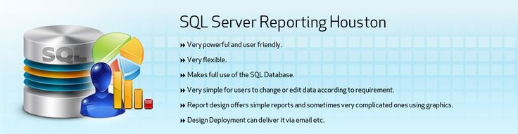 At #WebDesignerHouston, we are experts in #SQL #Server #Reporting #Design and #Deployment. SQL Server Reporting Services is a #Software #System to generate server based reporting. We can use SQL Server Reporting Services to deliver #Interactive and #printed #reports. The reports can be sent to the users via email or stored in a folder. We offer SQL Server reporting services #Efficiently and #Quickly.  To hire our #Services, ping at #Houston (281)809-6020.  Visit…