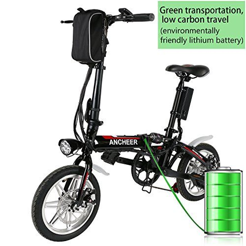 Ancheer 14″ Folding Electric Bike with 36V Lithium-ion Battery (Black) http://coolbike.us/product/ancheer-14-folding-electric-bike-with-36v-lithium-ion-battery-black/