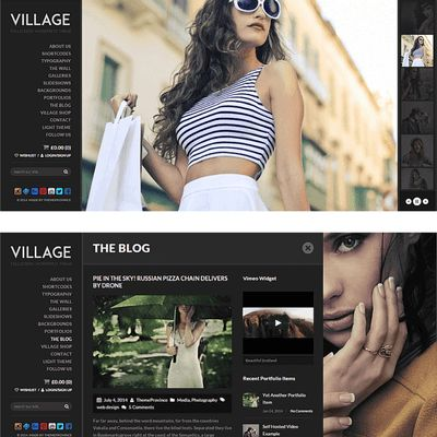 #TemaWP: Village Theme... forse un po' anziano, ma molto accattivante e alternativo: http://www.siamoalcompleto.it/village-theme/