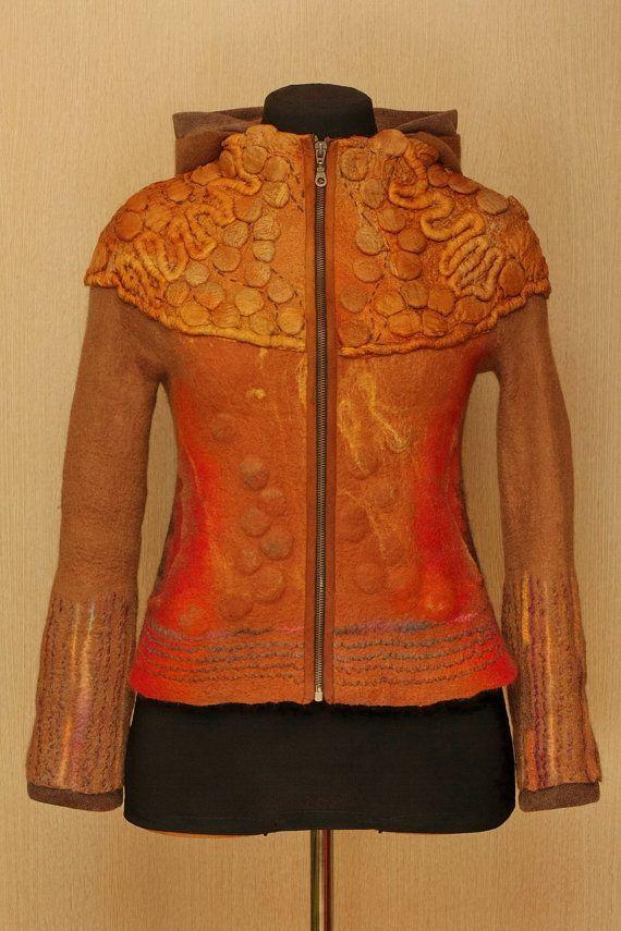 The Martian Chronicles / Felted Clothing / Jacket van LybaV op Etsy